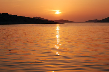Sunset in National Park Kornati