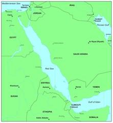 Sea maps series: Red Sea