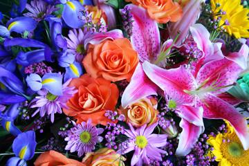 Vibrant bouquet of flowers