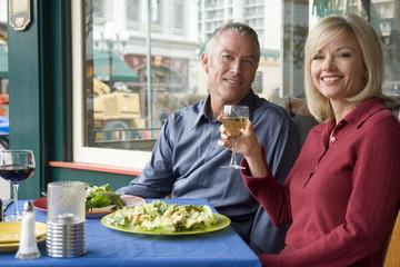 Couple enjoying a romantic lunch