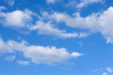 Aluminium Prints Heaven Cielo azul nubes blancas