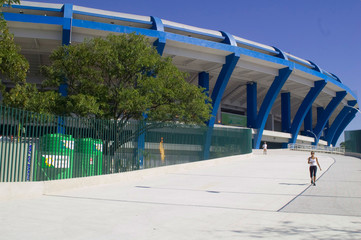 Foto op Canvas Stadion Fim de Jogo