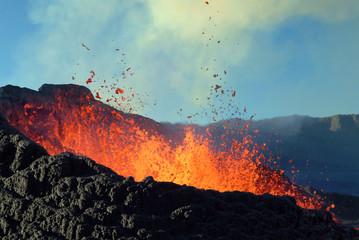 Poster Volcano éruption volcanique