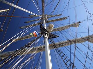 Mast & Takelage eines Segelbootes