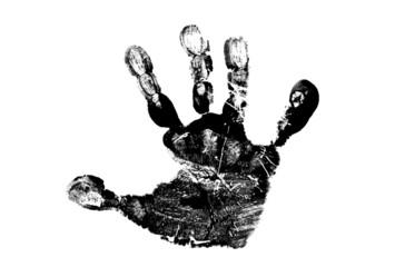 Child's handprint
