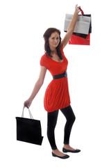 Girl on a shopping spree