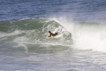 bodyboard sur la vague