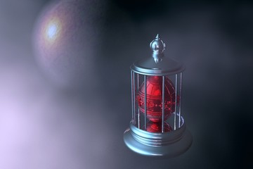 Space light  and red lamp