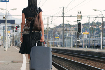 Woman leaving on a journey