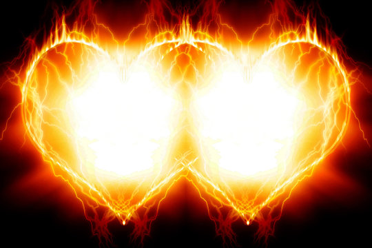 Double burning hearts