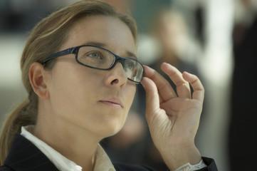 businesswoman reflective