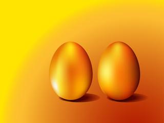 Illustration of golden eggs