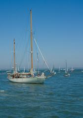 Large white sailing boat
