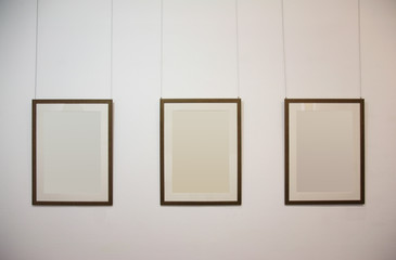wall with blank  frames