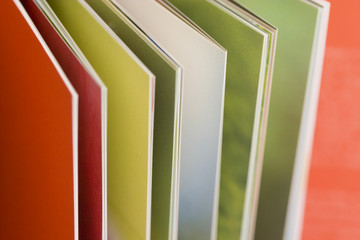 Pages of a hardcover book
