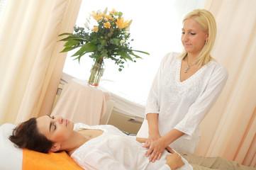 Massage in beauty shop