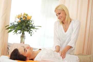 Massage in beauty salon