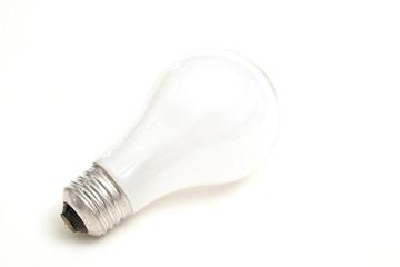 isolated light bulb on white