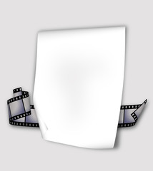 paper and film strip