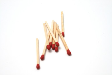 group of safety matches scattered