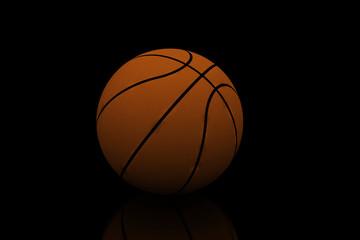 basketball isolated on black