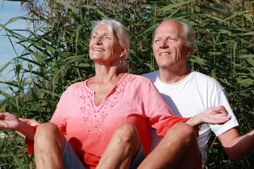 Meditierendes Ehepaar