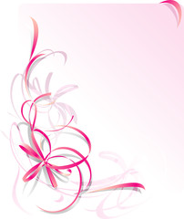 Pink Ribbon Greeting Card - St Valentines Day
