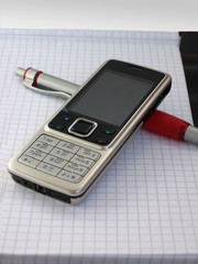 Mobile phone and pen