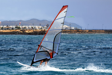 Windsurfer in Lanzarote