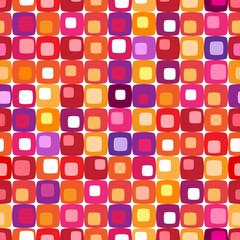 Retro colorful square pattern