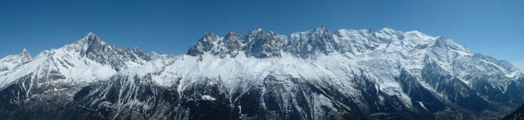 panorama massif du Mont Blanc vu du Brévent