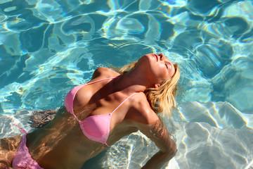 Sexy Blond Bikini Woman