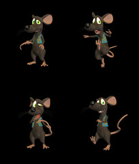 Cartoon Mouse - pack 2 b