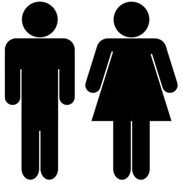 silhouettes d'un couple homme femme
