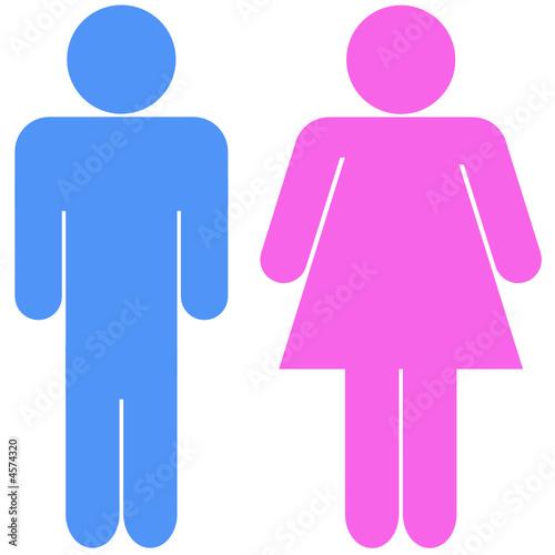 silhouettes d 39 un couple bleu et rose fichier vectoriel libre de droits sur la banque d 39 images. Black Bedroom Furniture Sets. Home Design Ideas