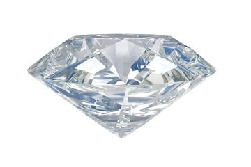 Isolated white diamond