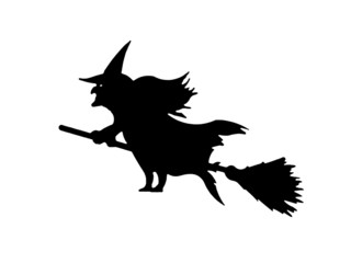 silhouette of a witch