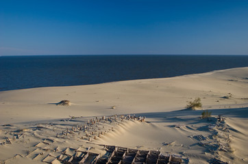 Canvas Prints Inspirational message Curonian Spit, dunes