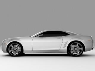 silvery sports car