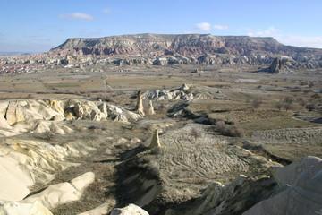 Cappadoce, vue de la vallée