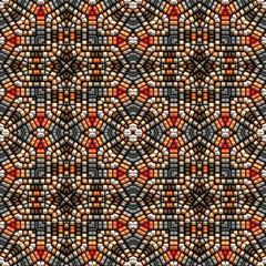 Native American bead art