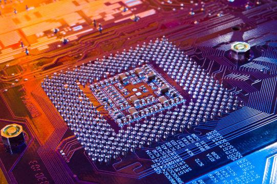 Computer microchip. Processor.