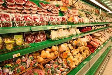 vegetables in the supermarket