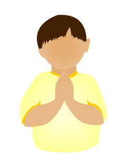 Child Praying Icon
