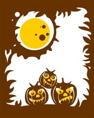 Brown pumpkins background