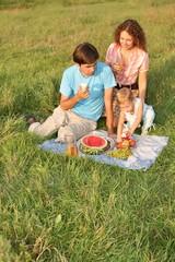 family vegetarian picnic