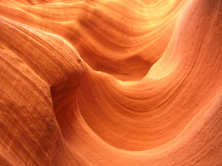 waive of the sandrock in the slot canyon
