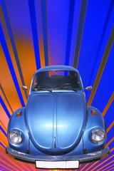 Vintage Blue Car 60's
