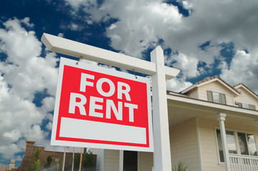 For Rent Sign & House
