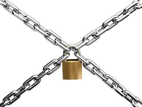 chain cross lock